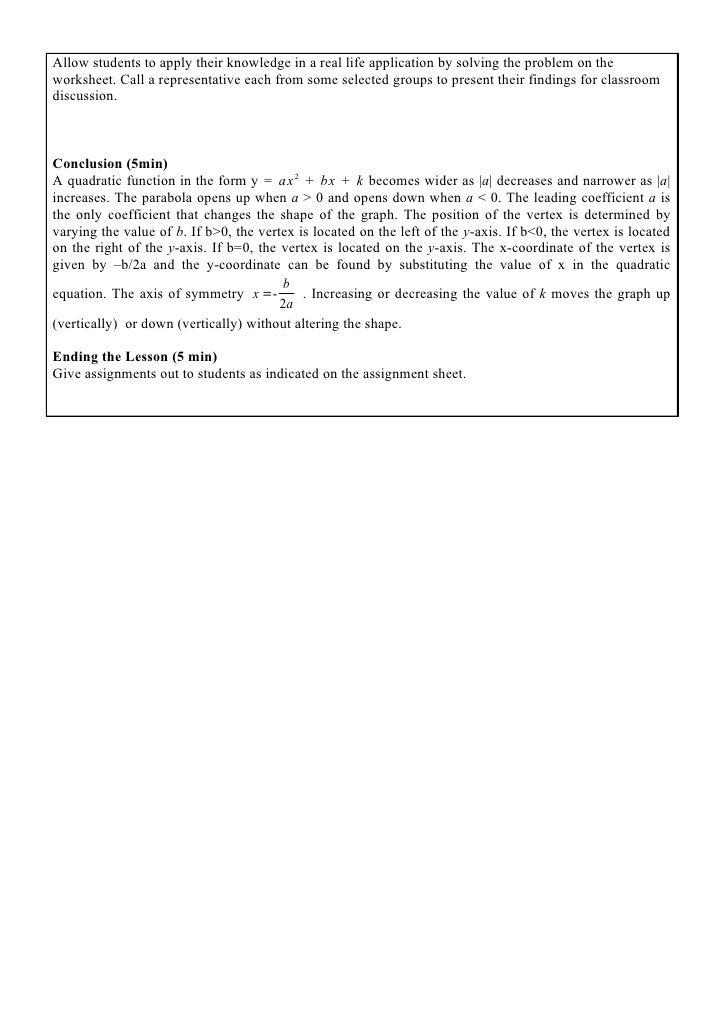 quadratics in polynomial form