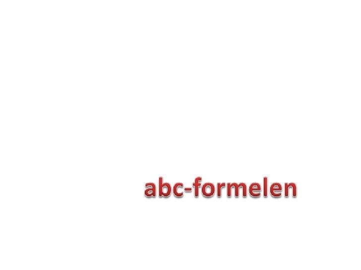 abc-formelen<br />