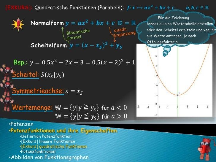 quadr.<br />Binomische<br />Formel<br />Ergänzung<br /><ul><li>Potenzen