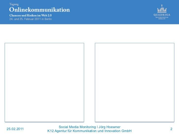 Anwendungen von Analysewerkzeugen im Social Media-Bereich Slide 2