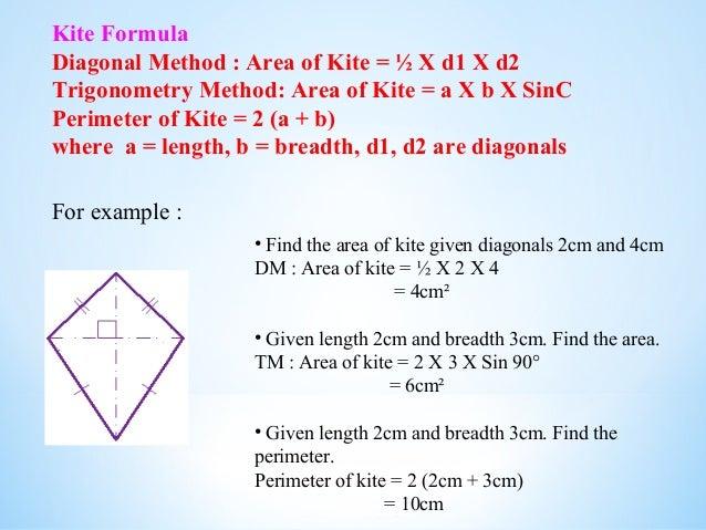 Quadrilateral presentation kite formula diagonal ccuart Images