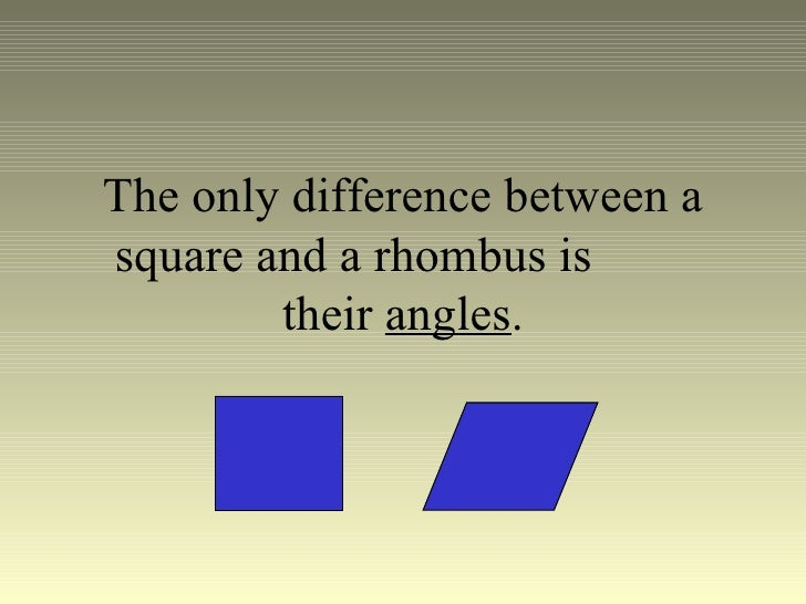 diff between square and rhombus relationship