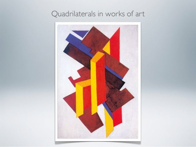 Quadrilaterals in works of art