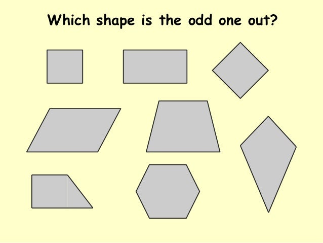 Which shape is the odd one out?