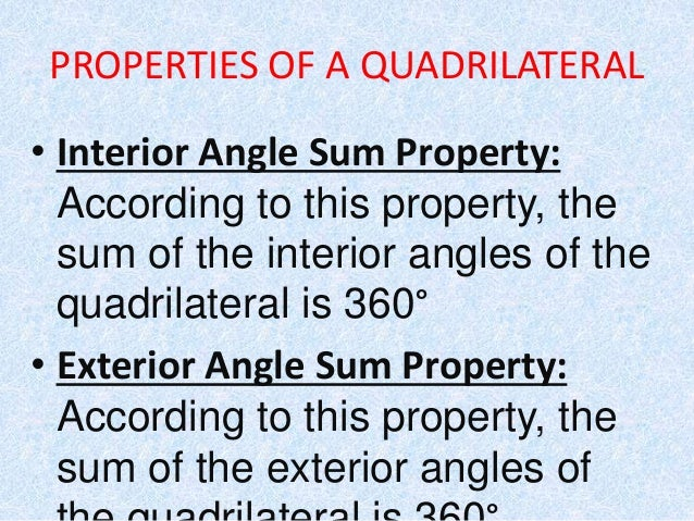 Quadrilaterals Their Properties Anmol