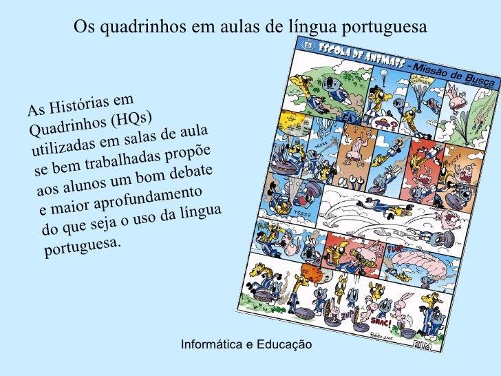 Os quadrinhos em aulas de língua portuguesa                   m As  Histórias e      ) Quadri  nhos (HQs e aula           ...