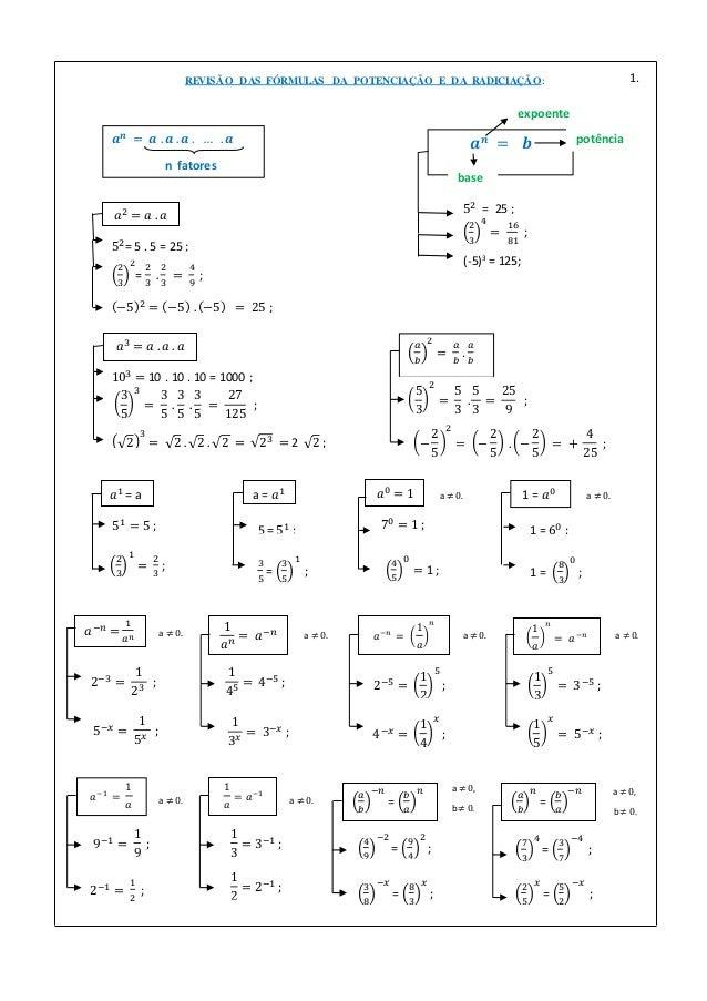 𝑎1 = a 51 = 5 ; 2 3 1 = 2 3 ; a = 𝑎1 5 = 51 ; 3 5 = 3 5 1 ; 𝑎3 = 𝑎 . 𝑎 . 𝑎 103 = 10 . 10 . 10 = 1000 ; 3 5 3 = 3 5 . 3 5 ....