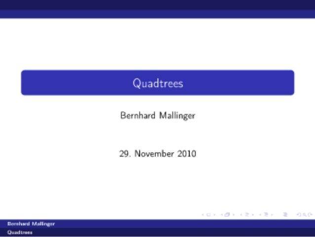 Quadtrees.presentation