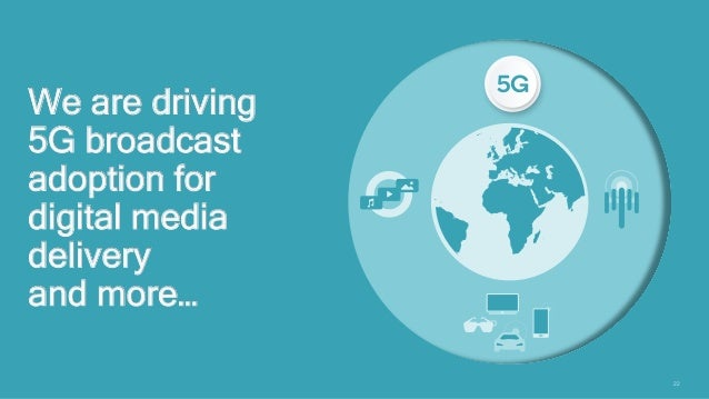 22 We are driving 5G broadcast adoption for digital media delivery and more…