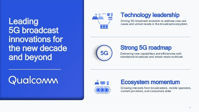 30 Leading 5G broadcast innovations for the new decade and beyond Technology leadership Driving 5G broadcast evolution to ...