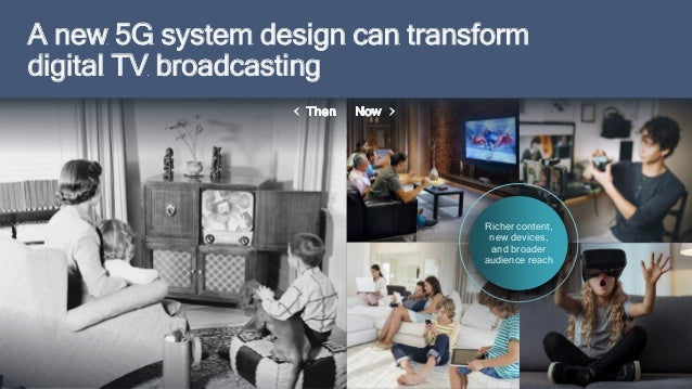 7 Richer content, new devices, and broader audience reach A new 5G system design can transform digital TV broadcasting