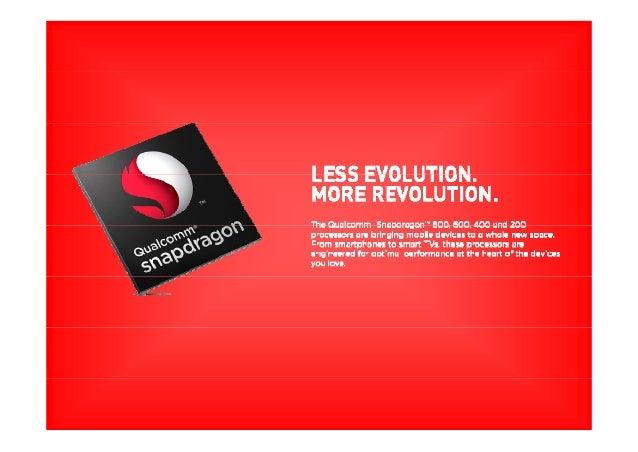 SNAPDRAGON400 PROCESSORSPROCESSORS PopularmobileuserexperiencelikesHDvideocaptureand playback,HDmultich‐annne...