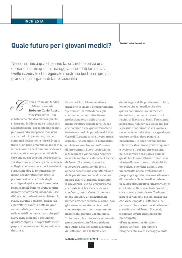 INCHIESTAQuale futuro per i giovani medici?                                                                               ...