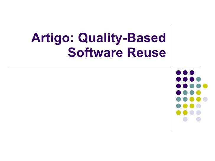 Artigo: Quality-Based Software Reuse