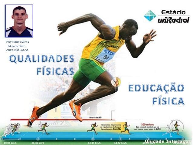 Unidade Interlagos Profº Rubens Menha Educador Físico CREF 025714/G-SP