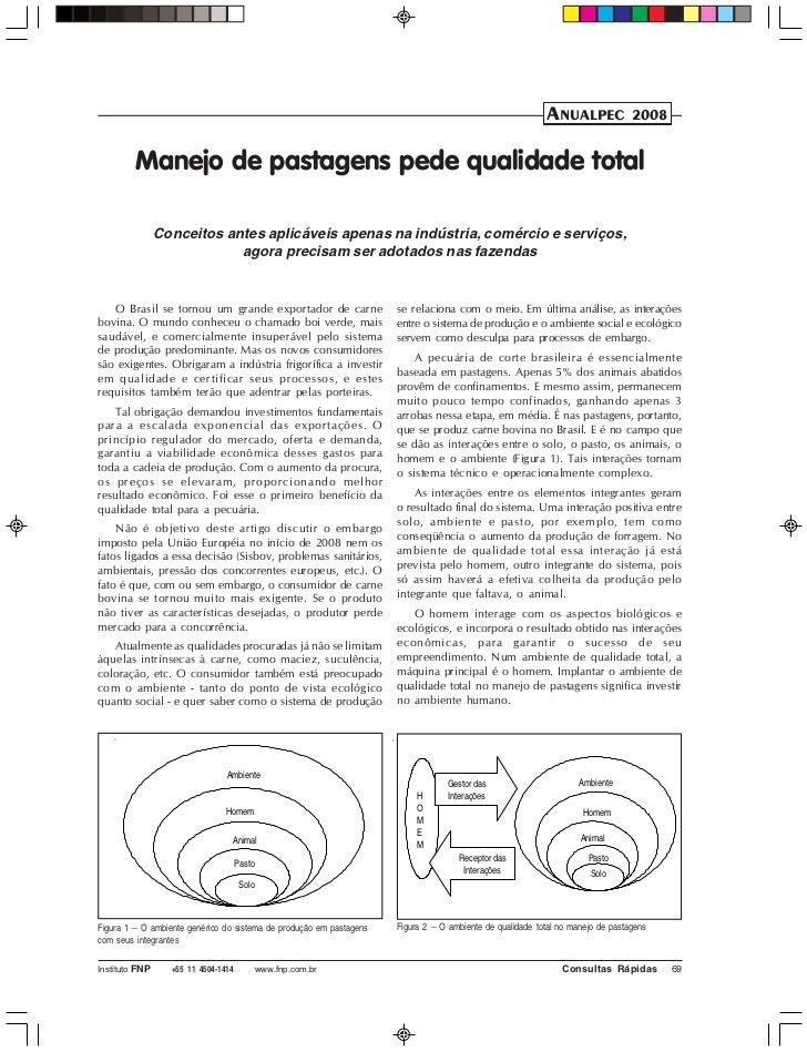 ANUALPEC              2008         Manejo de pastagens pede qualidade total                Conceitos antes aplicáveis apen...