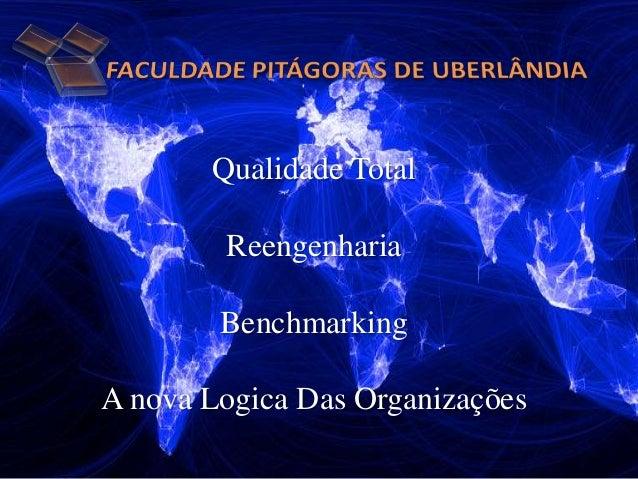 Qualidade Total Reengenharia Benchmarking A nova Logica Das Organizações
