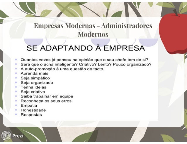 ,mxxnw '  Empresas Modernas - Administradores Modernos  SE ADAPTANDO À EMPRESA  Quantas vezes já pensou na opinião que o s...