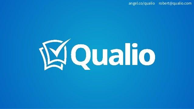 angel.co/qualio robert@qualio.com