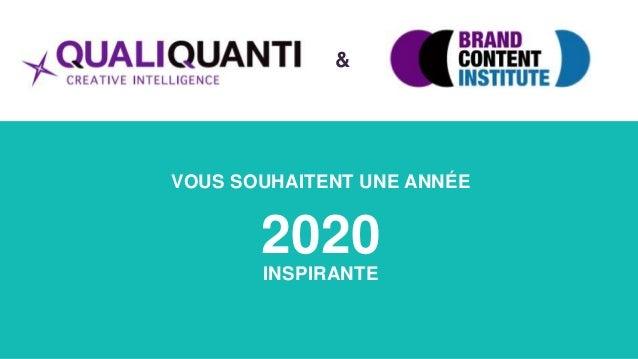 VOUS SOUHAITENT UNE ANNÉE 2020 INSPIRANTE &