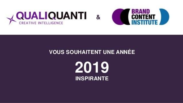 VOUS SOUHAITENT UNE ANNÉE 2019 INSPIRANTE &