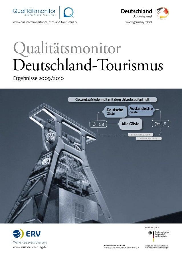 Deutsche Gäste Alle Gäste Ausländische Gäste Gesamtzufriedenheit mit dem Urlaubsaufenthalt Qualitätsmonitor Deutschland-To...
