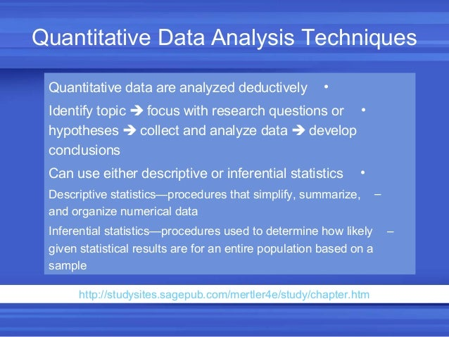 Qualitative And Quantitative Analysis