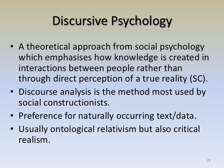 the aspects of relativists qualitative research in social psychology Social psychology quarterly 2003, vol 66, no 4,319-332 race, racism, and discrimination: bridging problems, methods, and theory in social psychological research.