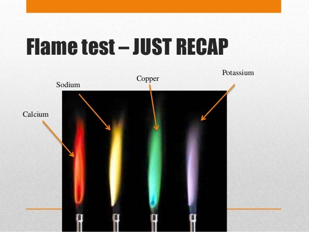 flame tests A: flame tests help miners, geologists, chemists and other related professionals identify the presence of chemical elements in a sample using the element's emission spectrum metal ions emit a specific color when heated, which identifies them in the sample.