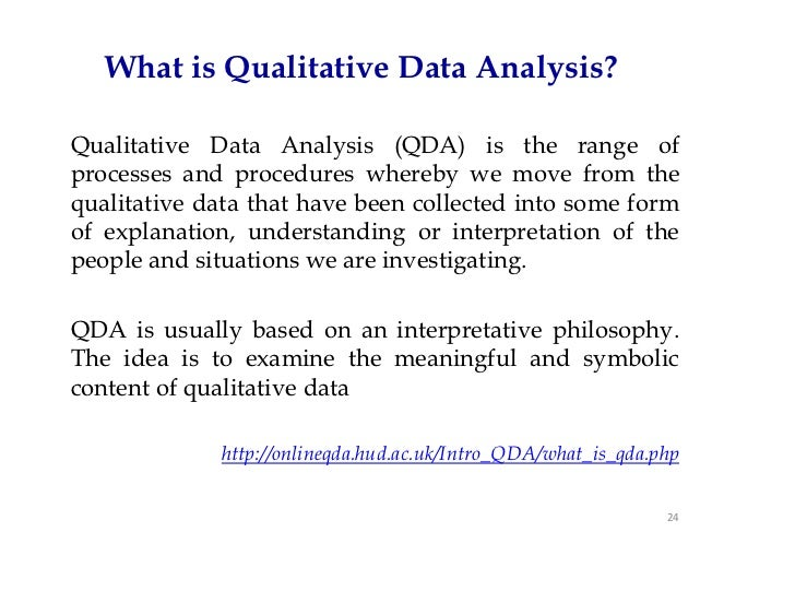 what is qualitative analysis This paper describes the research process – from planning to presentation, with the emphasis on credibility throughout the whole process – when the methodology of qualitative content.