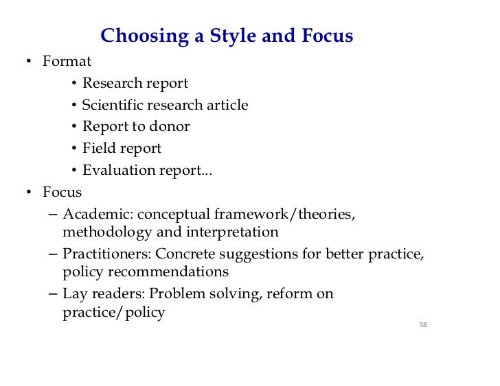 Sample structure of a research report – Research Report Sample