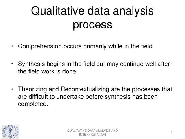 Qualitative Data Analysis and Interpretation Qualitative Data Analysis Process