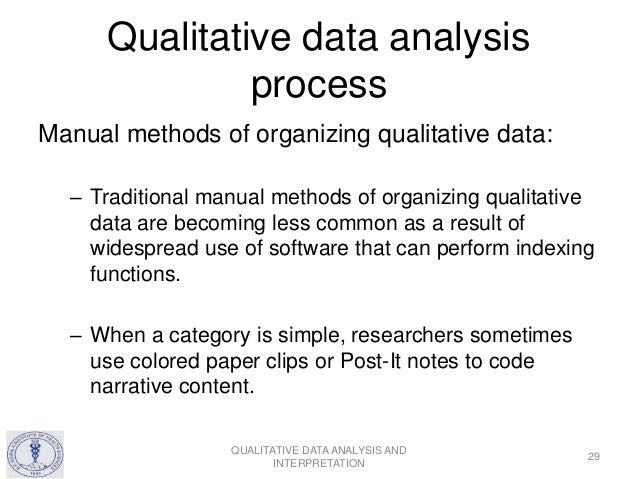 qualitative analysis methodology