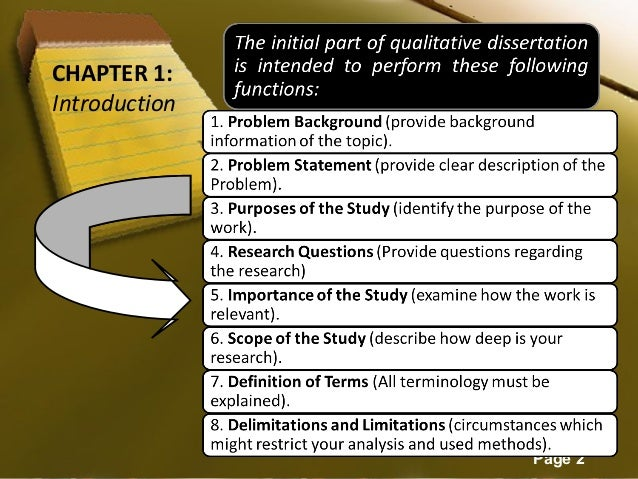 qualitative dissertation chapter 4 outline 4 introduction to the phd dissertation handbook the phd dissertation handbook is designed to make the process of writing proposals and dissertations rigorous, yet as efficient as possible.