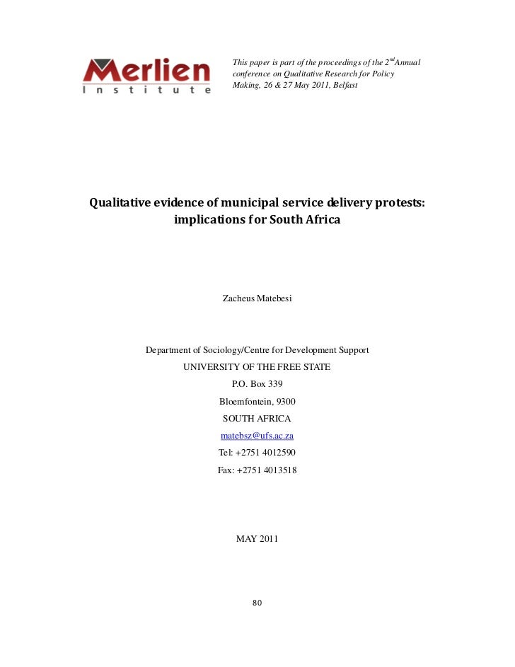This paper is part of the proceedings of the 2ndAnnual                               conference on Qualitative Research fo...