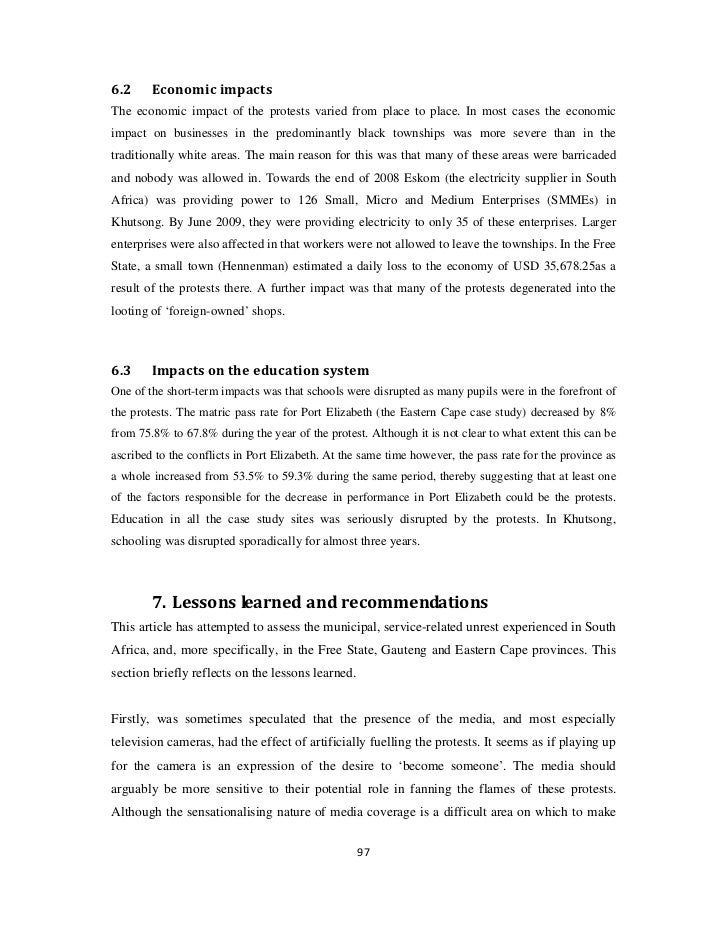 Service delivery essay