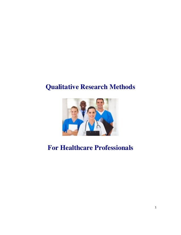qualitative methods for health research pdf