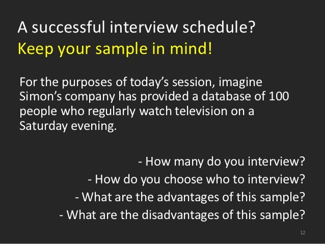 Sample Interview Schedule Template Professional Interview