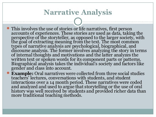 an analysis of the narrative of Yes, analyzing analysis isn't particularly exciting but it can, at least, be enjoyable care to prove us wrong.