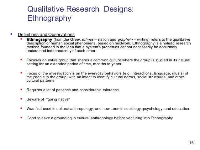 qualitative research design example pdf