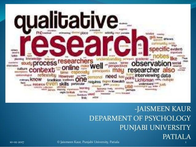 -JAISMEEN KAUR DEPARMENT OF PSYCHOLOGY PUNJABI UNIVERSITY PATIALA 10-02-2017 © Jaismeen Kaur, Punjabi University, Patiala 1