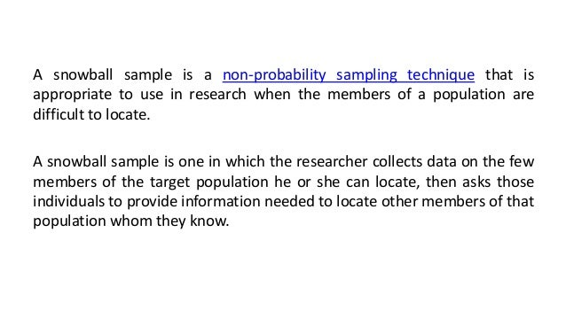 what is snowball sampling pdf