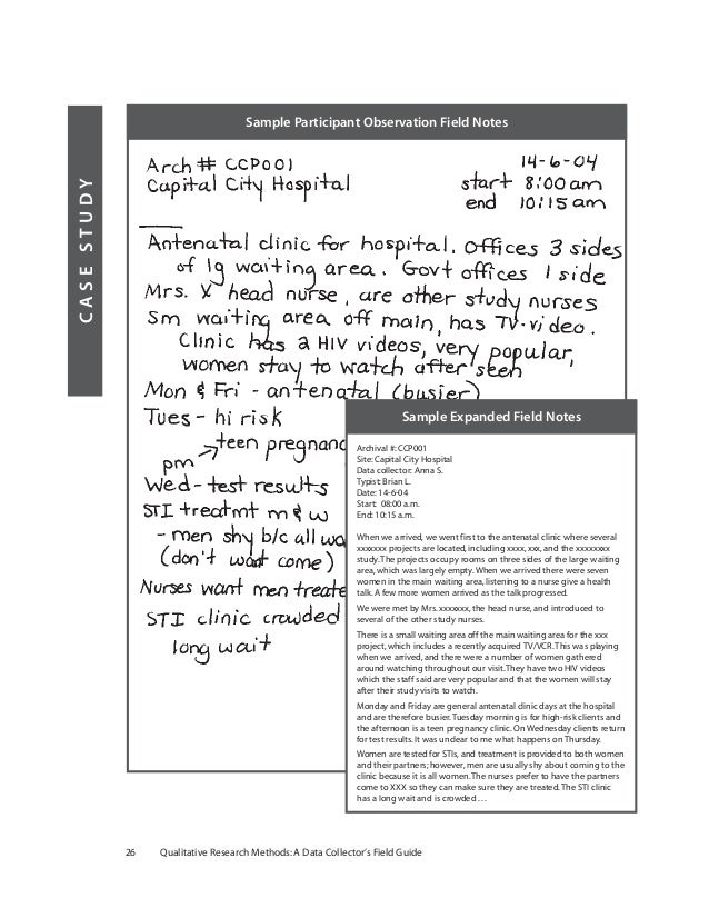 field notes in qualitative research pdf