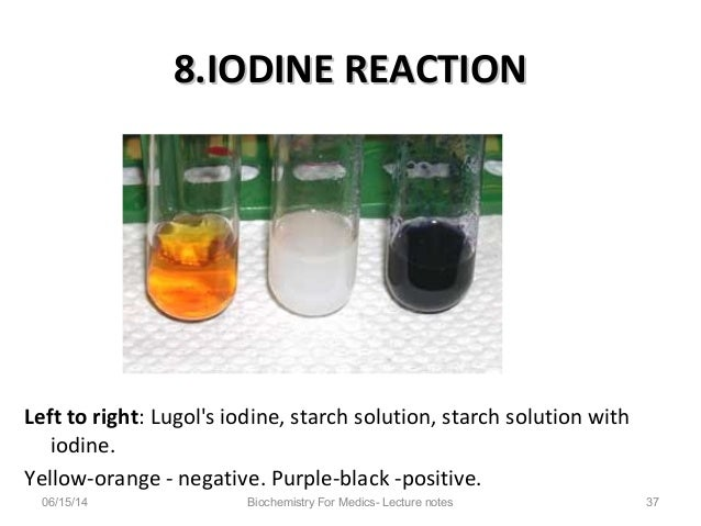 iodine test for starch Brew science: the iodine test this is in first of a series of articles about the science behind basic brewing processes add this drop of starch to the iodine.