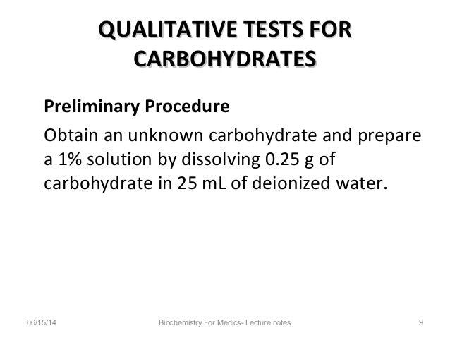 identification of unknown carbohydrates lab report