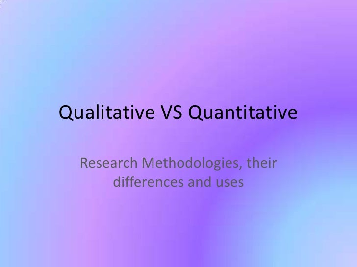 papers on qualitative vs quantitative research Open document below is an essay on qualitative vs quantitative from anti essays, your source for research papers, essays, and term paper examples.
