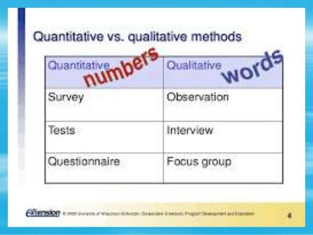 qualitative vs quantitative research