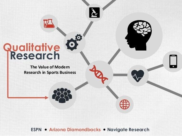 Qualitative  ESPNArizona Diamondbacks Navigate Research  Research  The Value of Modern Research in Sports Business