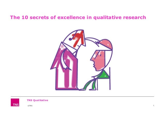 The 10 secrets of excellence in qualitative research ©TNS 1 TNS Qualitative ©TNS