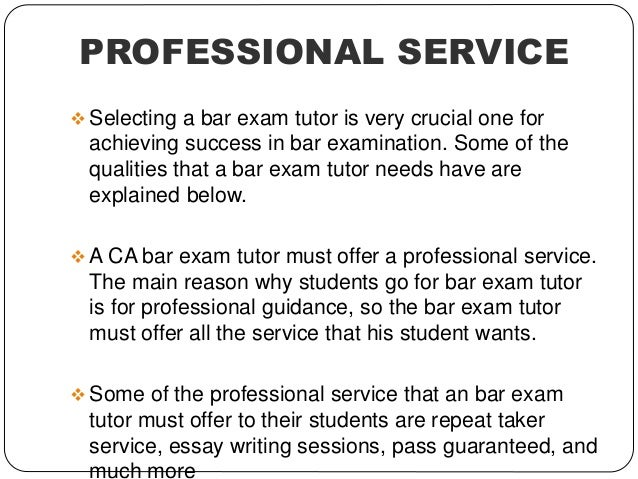 bar essay prep Bar-none specializes in a predictable and methodical approach to the new  jersey bar exam.
